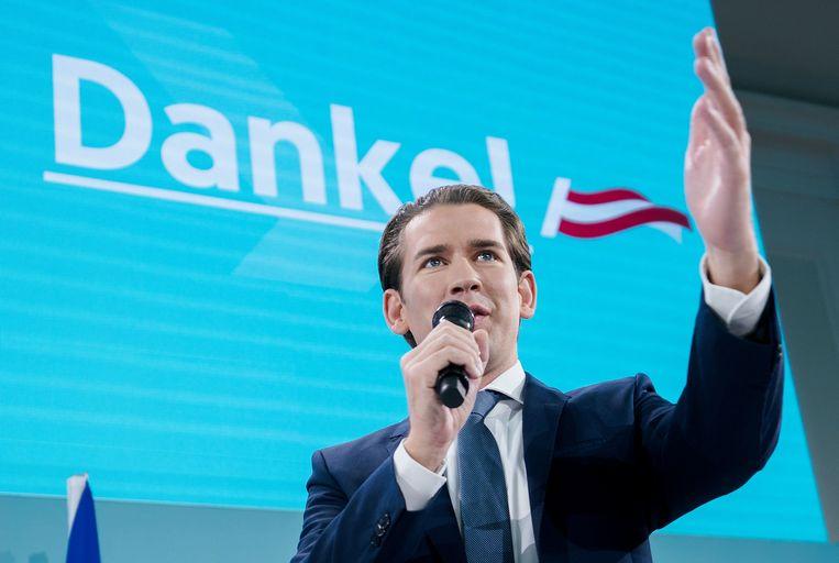 De conservatieve ÖVP van oud-kanselier Sebastian Kurz. Beeld AFP