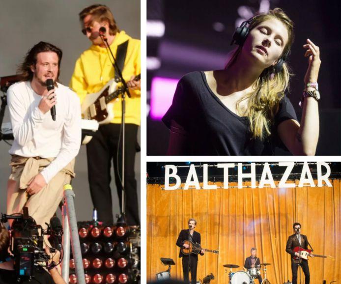 Bazart (editie 2018), Charlotte De Witte (editie 2016) en Balthazar (editie 2014) op Pukkelpop.