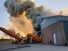 Grote brand in aardappelloods aan Weebosch in Bergeijk