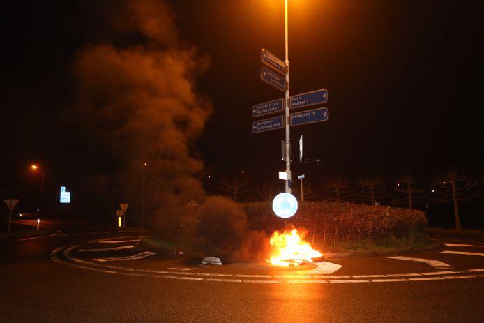Brandende autobanden