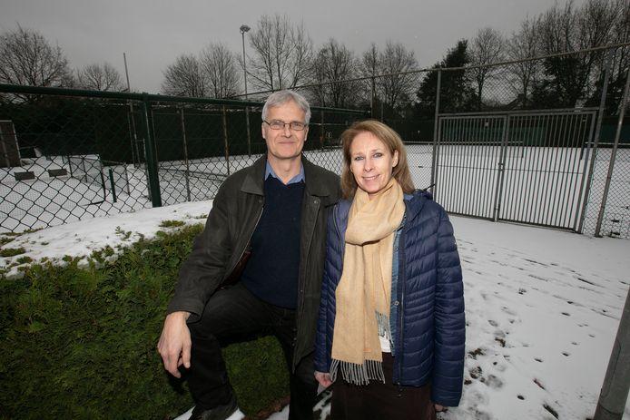 Jack Gudden en Patricia Janssen van tennisvereniging  De Korrel in Veldhoven.