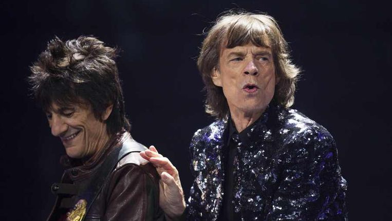 Mick Jagger (R) and Ronnie Wood Beeld reuters
