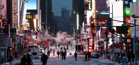 Slechts 15 cm sneeuw in New York, excuses van weerdienst