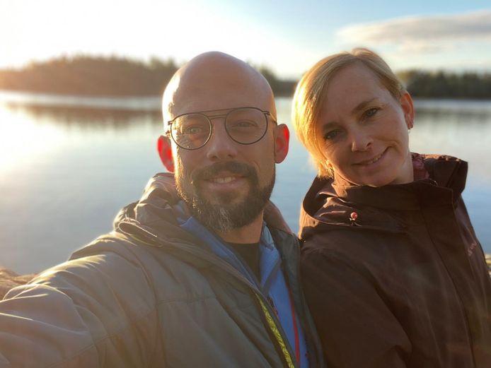 Staf en Monique in Zweden