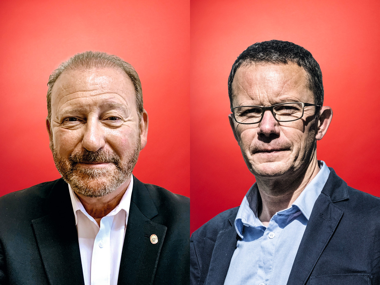 IRik Daems (l) en Ive Marx. Beeld Stefaan Temmerman / Tim Dirven / RV