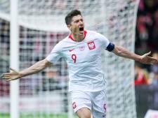 Polen dankzij late goals van Lewandowski en Glik voorbij Letland