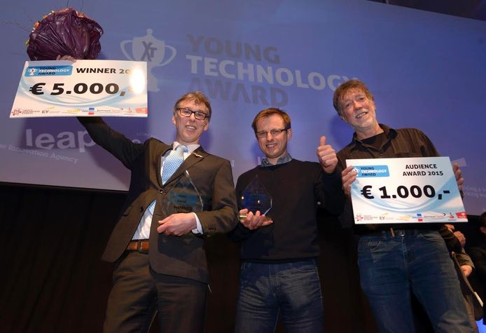 SoundEnergy ging er dit jaar vandoor met de Young Technology Award. Herbert Berkhout staat links op de foto
