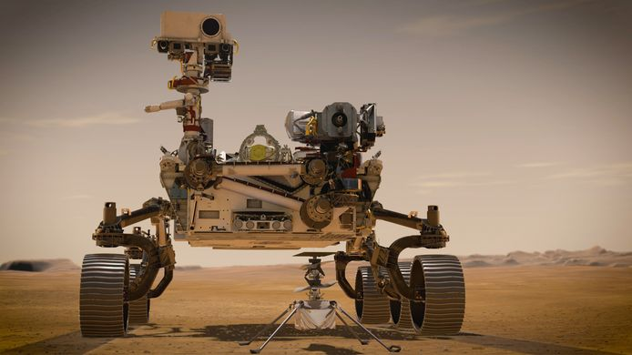 """Le rover """"Perseverance"""" et """"Ingenuity"""""""