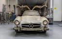 De wagen zoals hij was toen Mercedes-Benz hem terugkocht van de eigenaar.
