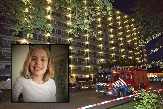 Sharleyne werd begin juni dood gevonden onderaan de flat in Hoogeveen.