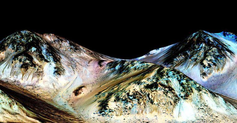 Water op Mars. Beeld Reuters/AFP/AP/RV