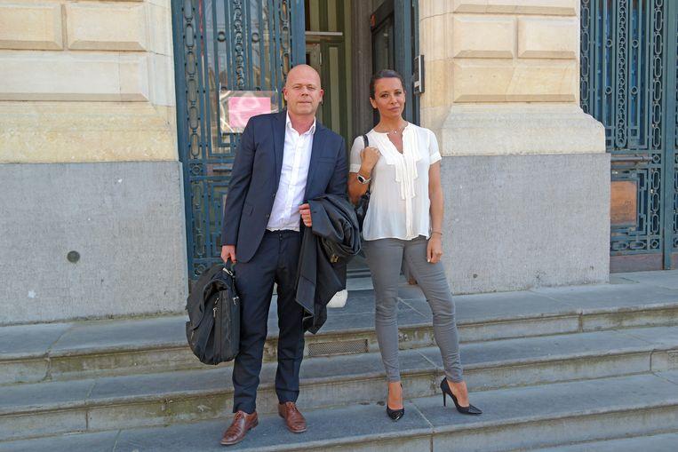 Barbara Gandolfi en haar advocaat Sven Mary voor het Gentse hof van beroep