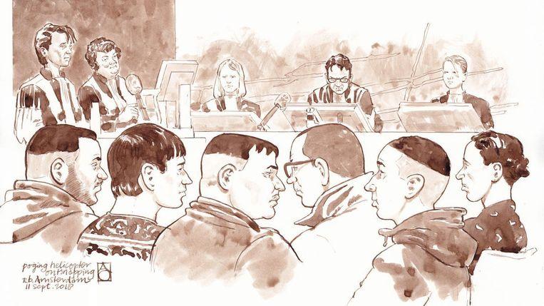 De verdachten in de rechtbank Beeld ANP