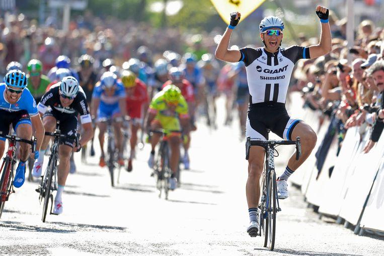 In de sprint was niets te beginnen tegen de Duitser Beeld PHOTO_NEWS