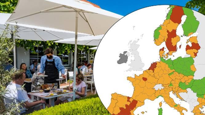 IN KAART. Vlaanderen en Wallonië kleuren opnieuw oranje op Europese coronakaart