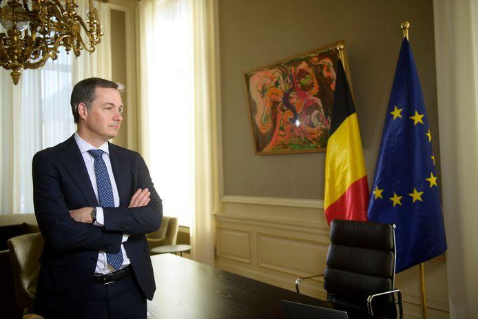 Alexander De Croo dans son bureau au Seize.