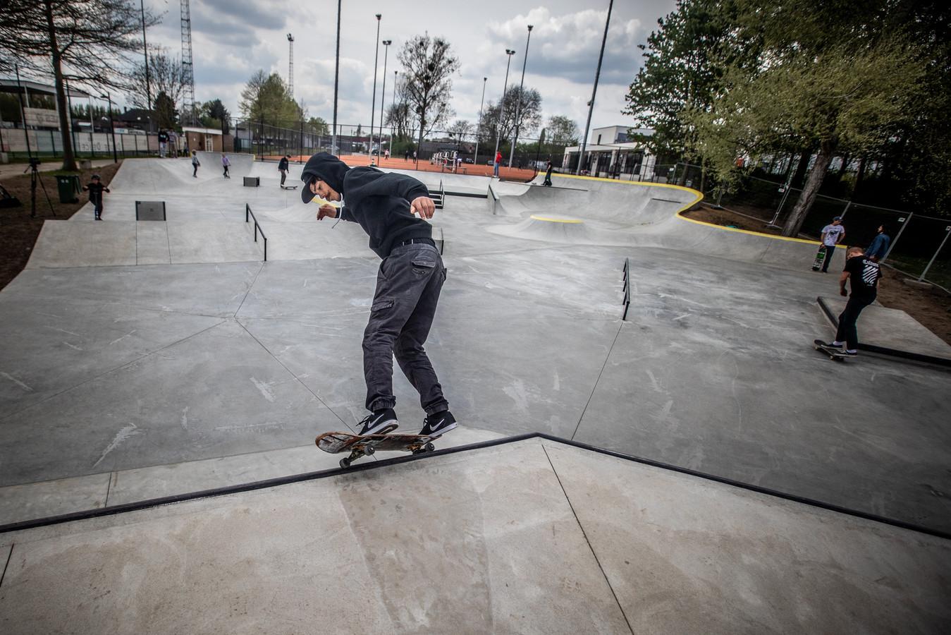 Het skatepark op de vrijetijdssite De Kimpel in Bilzen, waar binnenkort skateboardlessen zullen doorgaan.