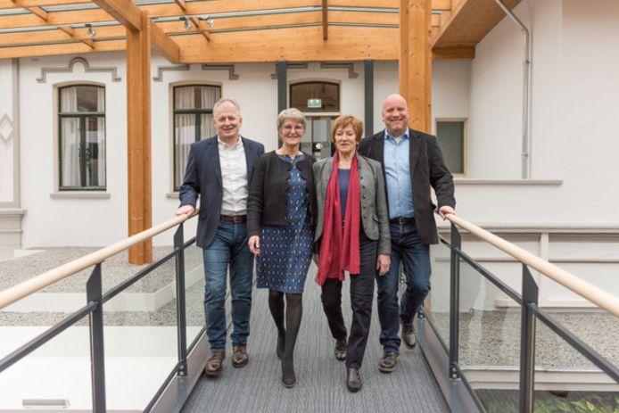 De Brummense CDA-fractie, met links fractievoorzitter Erwin te Bokkel en naast hem zijn (tijdelijke) opvolger Dity Zuidwijk-van Lenthe.