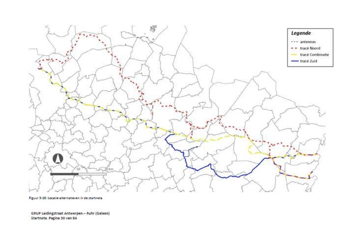 """Er liggen drie tracés op tafel. Het voorgestelde zuidelijk tracé doorkruist Hasselt in het noorden, maar neemt op zijn pad heel veel waarden van de stad af. """"Dat kunnen we niet aanvaarden"""""""