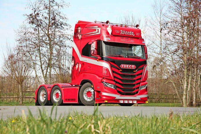 De Iveco S-Way van Jack van Gorsel heeft zilver gewonnen bij de verkiezing Mooiste truck van Nederland.