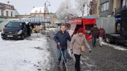 Sneeuw houdt kopers weg op voorlopig laatste marktdag op Markt