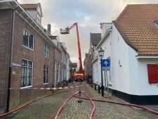 Woningbrand in centrum van Harderwijk: deel binnenstad op slot