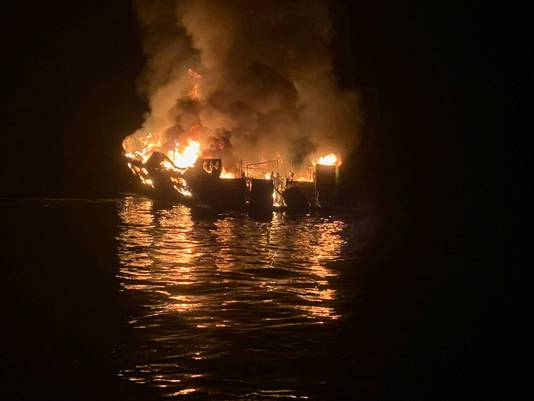 De boot vloog op 2 september in brand.