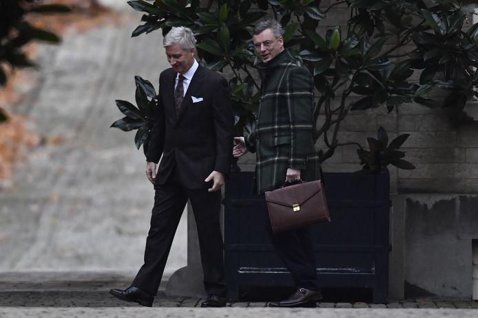 CD&V-voorzitter Joachim Coens mocht vanmorgen als eerste langs bij koning Filip.