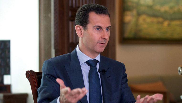 Archieffoto van de Syrische president Basher al-Assad. Beeld epa