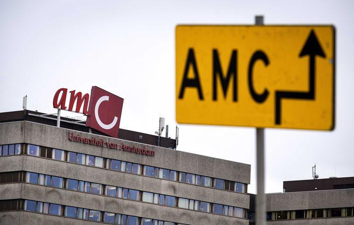 Locatie AMC van het Amsterdam UMC. De vrouw uit Amsterdam die is besmet met het coronavirus, werkt in het AMC. ANP RAMON VAN FLYMEN