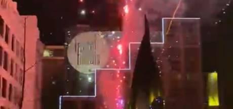 PSV-supporters steken vuurwerk af om nachtrust Olympiakos-spelers te verstoren