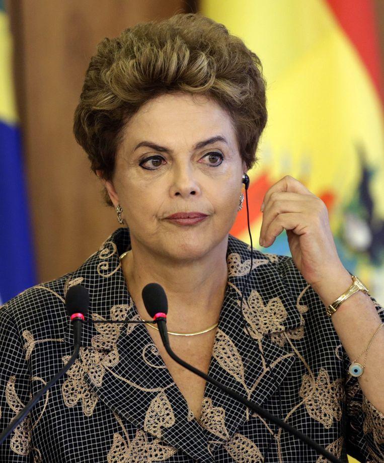 De Braziliaanse president Dilma Rousseff. Beeld EPA