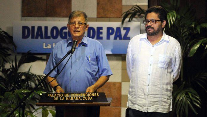 Rodrigo Granda et Luciano Marin, membres des Farc (archives, Cuba 2013)