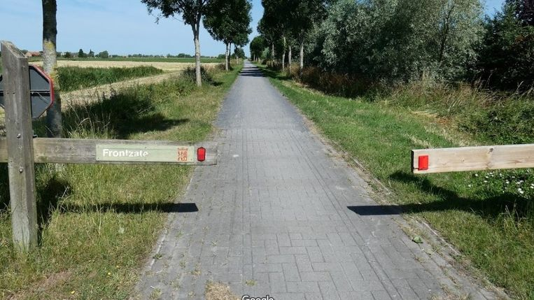 De Frontzate, het provinciale fietspad tussen Diksmuide en Nieuwpoort.