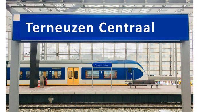 Dit lijkt zo langzamerhand meer te worden dan toekomstmuziek, een treinstation in Terneuzen.