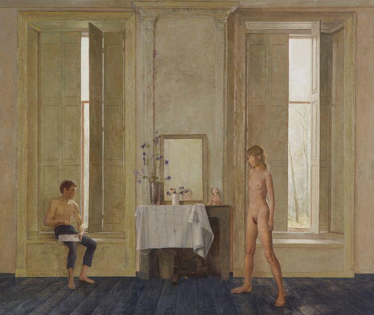 'De schilder en zijn model'.  Harry Tupan, directeur Drents Museum: