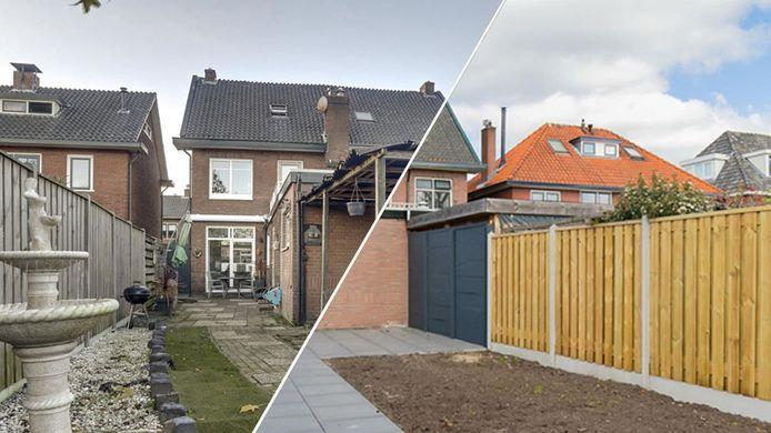 Voor- en na, hetzelfde huis, een andere prijs. Het verschil is gigantisch: 120.000 euro