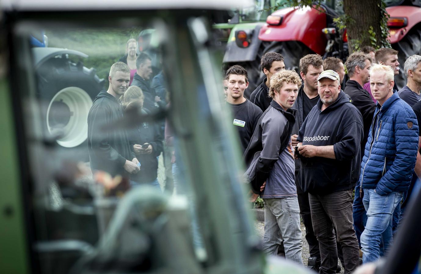 Boeren protesteerden eerder deze maand bij supermarktbranchevereniging CBL in Leidschendam.