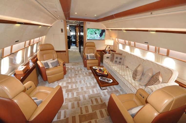 Interieurontwerpen voor de Airbus Corporate Jets, de luxe zakenvliegtuigen van Airbus.  Beeld Airbus Corporate Jets