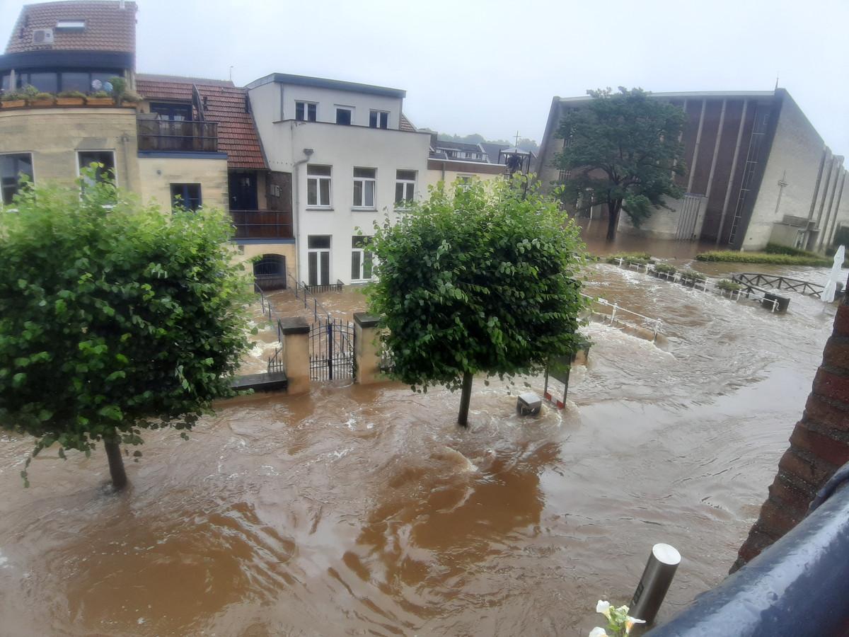 Overstromingen in Limburg.