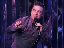 Robbie Williams bij eerste liveshow The Voice