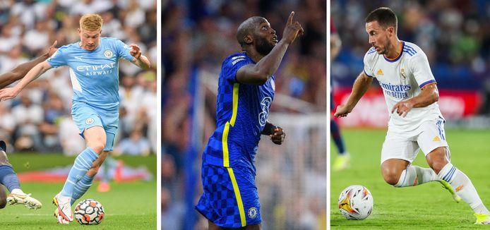 Kevin De Bruyne, Romelu Lukaku, Eden Hazard... des candidats belges au titre en Ligue des Champions.