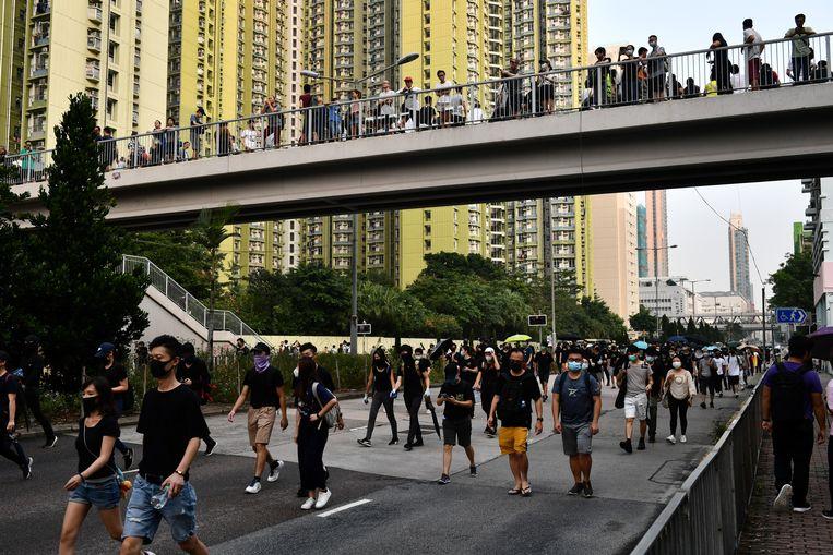 Tienduizenden demonstreren weer in Hongkong