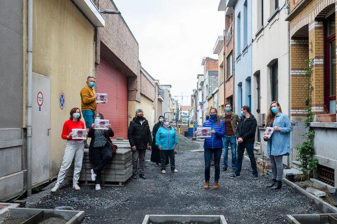 De bewoners van de Wasstraat in Berchem zijn ongerust over de aanleg van de tuinstraat.