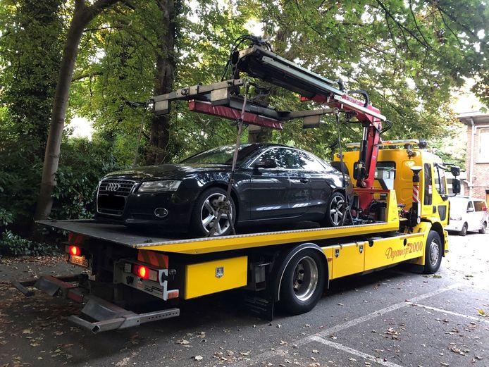 De Audi A5 werd in beslag genomen.