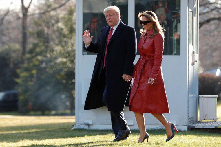 VS-president Donald Trump en Melania. Beeld REUTERS