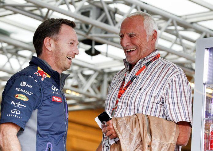 Dieter Mateschitz met Red Bull-teambaas Christian Horner
