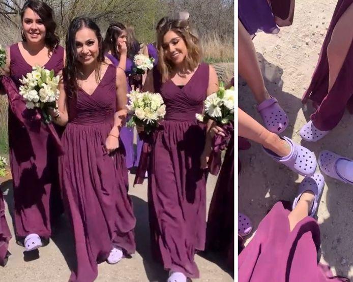 Des demoiselles d'honneur font une farce à la mariée en  enfreignant le code vestimentaire.