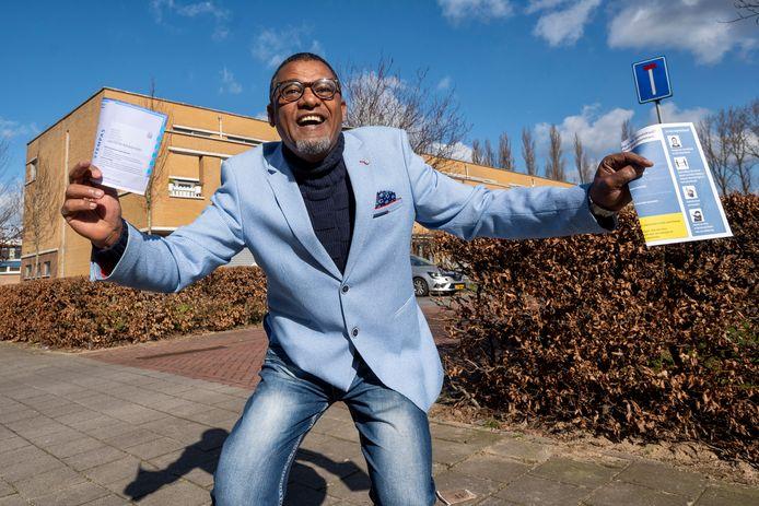 Tesfahuney Tekle is dolblij dat hij voor het eerst in zijn leven naar de stembus mag. In Nederland.