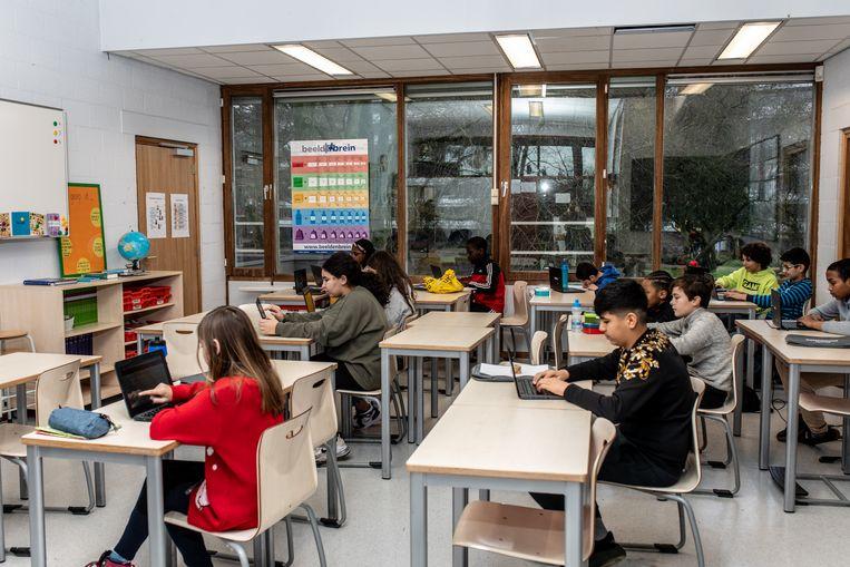 Basisschool De Krijtmolen in Amsterdam-Noord. Beeld Nosh Neneh